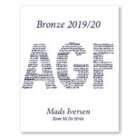 AGF plakat – personlig gave med navn – kom så de hviie