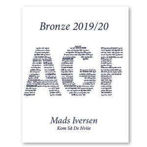 AGF plakat - personlig gave med navn - kom så de hviie