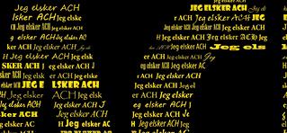 Jeg elsker AC Horsens plakat med navn - Min Personlige Gave