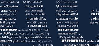 AGF fodbold plakat - trykt med eget navn - Min Personlige Gave
