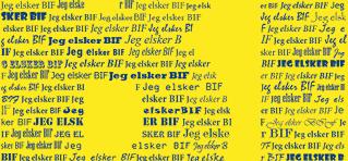 Plakat med Brøndby IF - personligt med navn - Min Personlige Gave