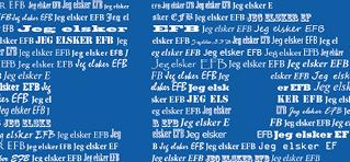Jeg elsker EFB - fodboldplakat med navn personlig