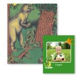 Dinosauerbogen med fotoside