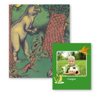 Dinosauerbogen med foto og navn - børnebog