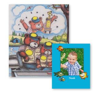 Fiskebog - børnebog med navn og foto