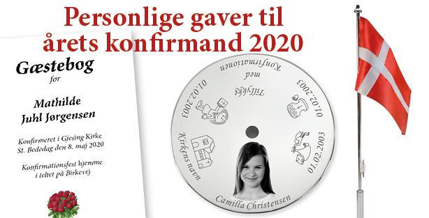 Personlige gaver til årets konfirmand 2020 - konfirmations gaver - Min Personlige Gave