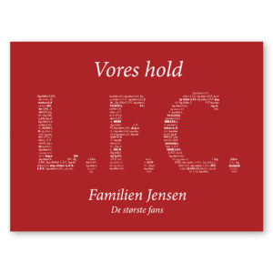 Liverpool FC plakat med navn