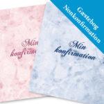 Gæstebog til nonkonfirmation 2021 – personlig trykt med navn