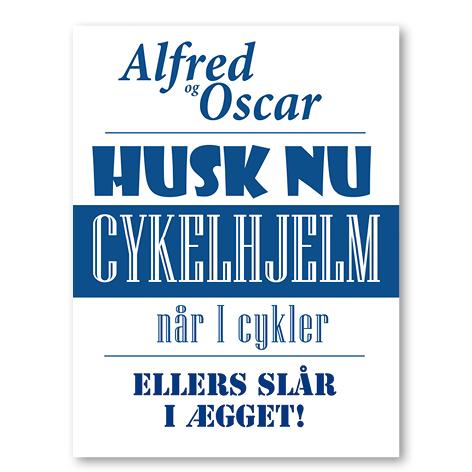 Husk nu cykelhjelm blå