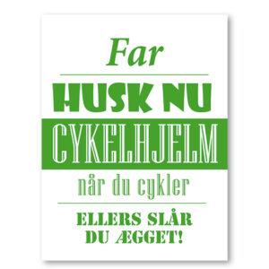 husk nu cykelhjelm - plakat med navn