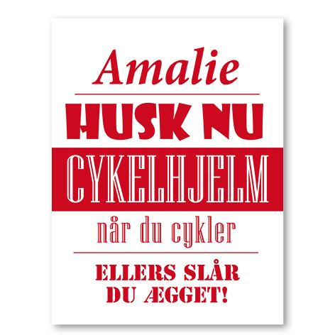 Husk nu cykelhjelm rød
