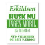 Husk nu mobil wc grøn