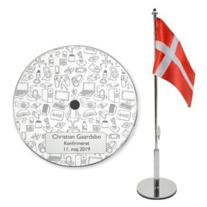 Bordflag til konfirmation med gamer ting