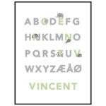 ABC plakat grøn