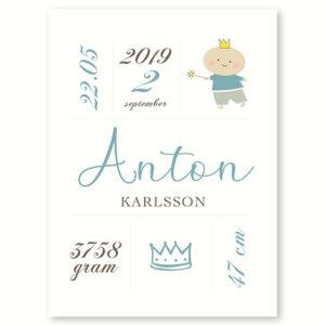 Den lille prins - fødselsplakat