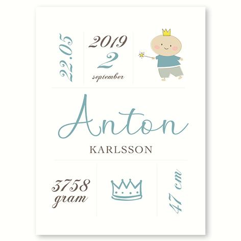 Den lille prins – fødselsplakat