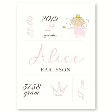 Den lille Prinsesse – fødselsplakat