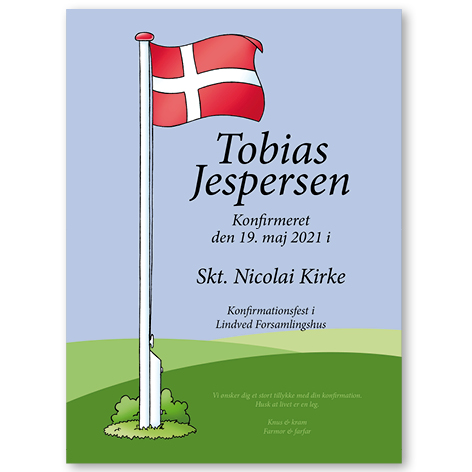Flag – plakat – konfirmation