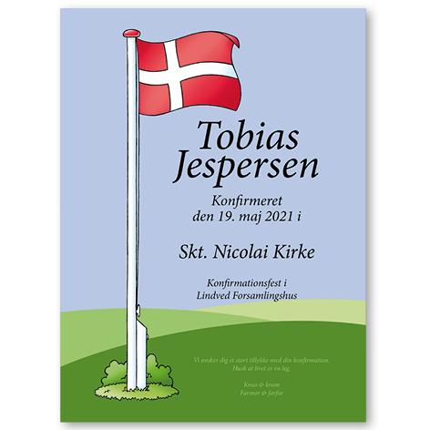 Flag – plakat – konfirmation
