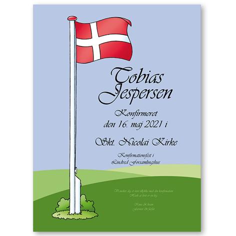 """Flag plakat med """"gammeldags"""" skrift"""