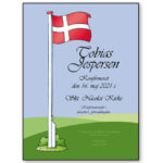 Plakat Flag – konfirmation med ramme