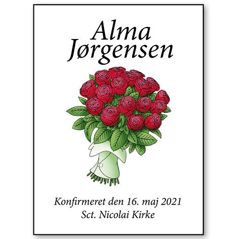 Plakat til konfirmanden 2021 – roser